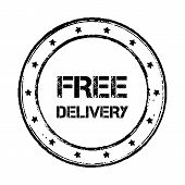 Free delivery badge vintage