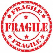 pic of fragile sign  - Grunge rubber stamp with text Fragile - JPG