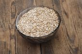 picture of malt  - Pale malt barley in a glass bowl - JPG
