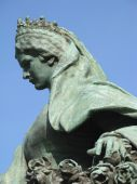 stock photo of sissy  - Bronze statue of the world famous Empress Elisabeth  - JPG