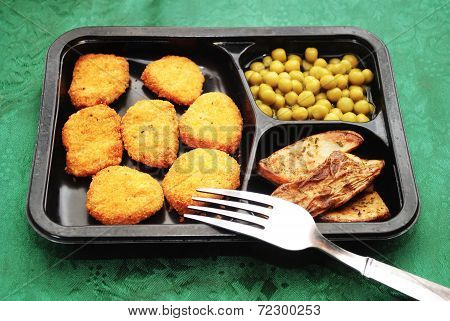 Fish Or Chicken Nugget Fast Food Dinner