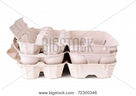 Eggs Carton Package Isolated On A White