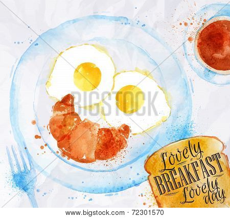Breakfast smile eggs