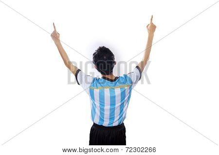 Argentine Soccer Player Celebrate Victory