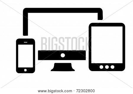 Responsive Screens Vector