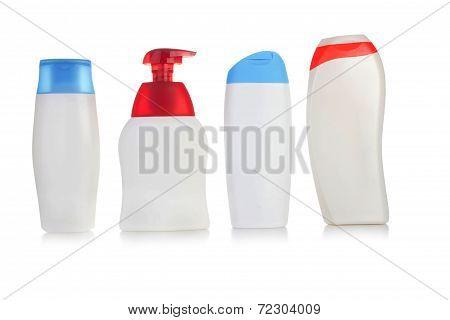 Bottles set isolated on white