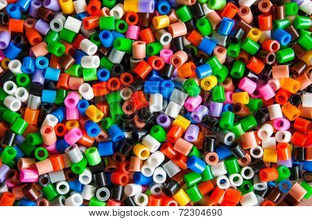 Multicolored Plastic Hama Beads Toy For Kids