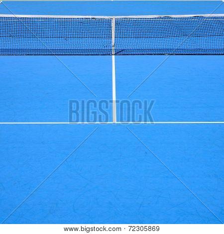 Tennis Court, Sport Blue Background