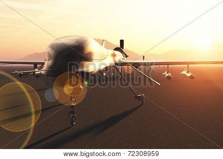 Military Predator Type Drones Base
