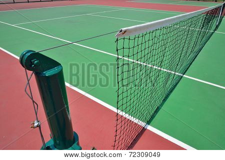 Red And Green Tennis Court