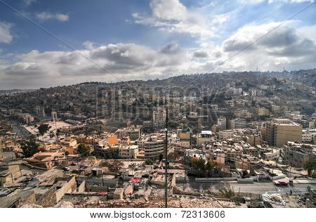 View Of Amman, Jordan From The Citadel