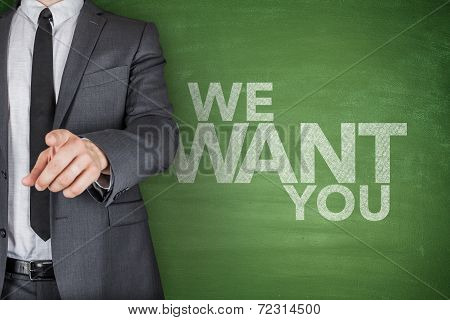 We Want You On Blackboard