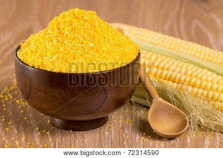 Corn Grits And Cobs