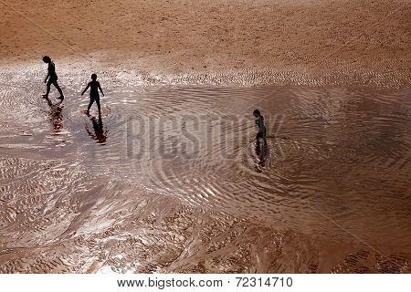 Children Paddling, San Sebastian, Spain
