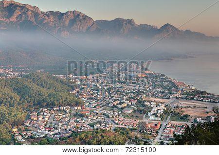 Aerial View Of Kemer City, Mediterranean Resort, Antalya Province, Turkey