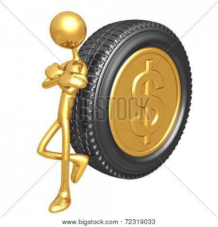 Gold Dollar Coin Tire