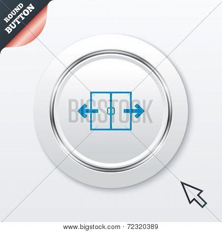 Automatic door sign icon. Auto open symbol.