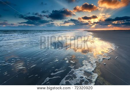 Sunrise Over North Sea Coast