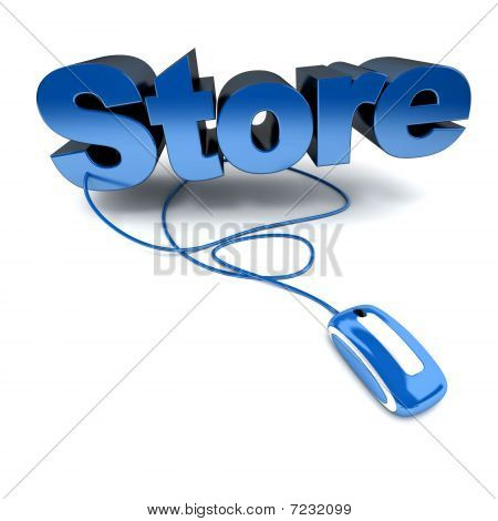 Online Store In Blue