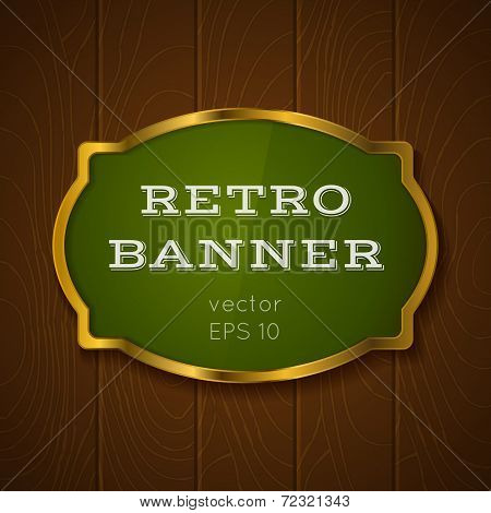 banner on wooden backround