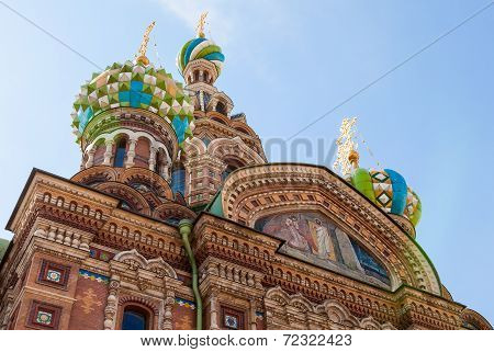 Savior On Spilled Blood (church Of The Resurrection) In Saint Petersburg, Russia