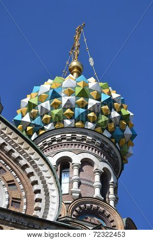 Dome Of Orthodox Church Spas Na Krovi