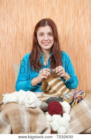 Knitting Woman
