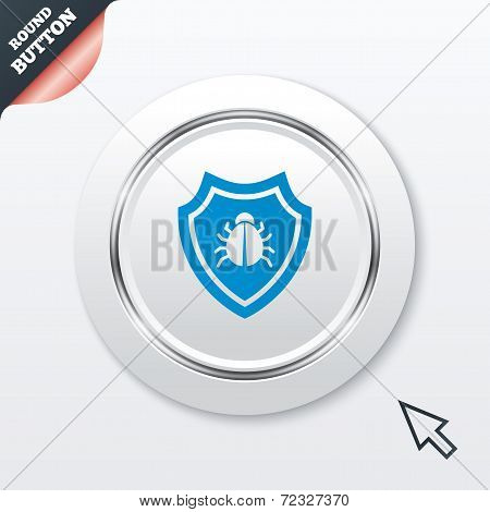 Shield sign icon. Virus protection symbol.