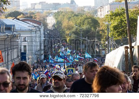 Peace March Against War With Ukraine