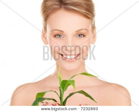 Woman With Sprout