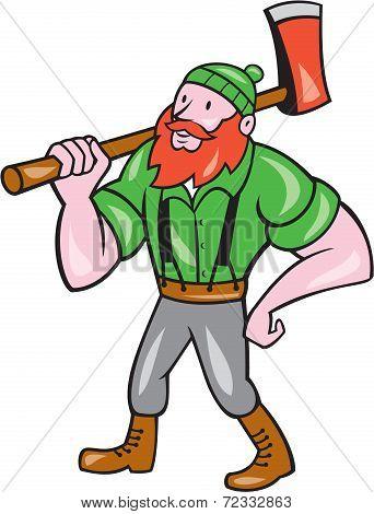 Lumberjack Isolated Cartoon