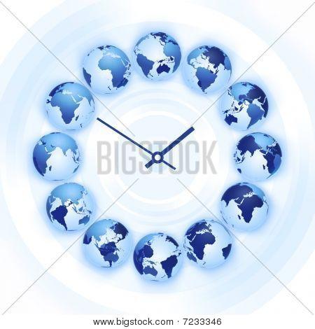 Relógio de tempo do mundo