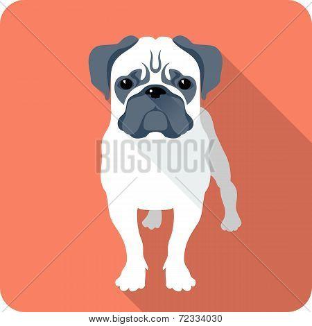 Dog Icon Flat Design