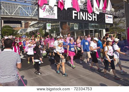 Race For The Cure Awareness Portland Oregon Event.