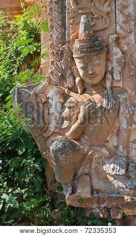 Detail Of Ancient Burmese Buddhist Pagodas
