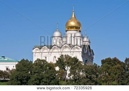 Archangel Cathedral In The Moscow Kremlin