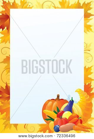 Vertical card for thanksgiving