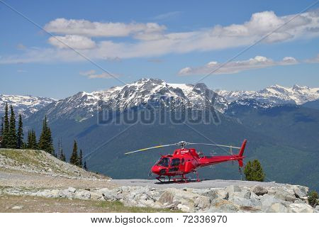 VANCOUVER, CANADA JULY 10:Heli Tours on Whistler mountain on July 10, 2014 From Whistler.