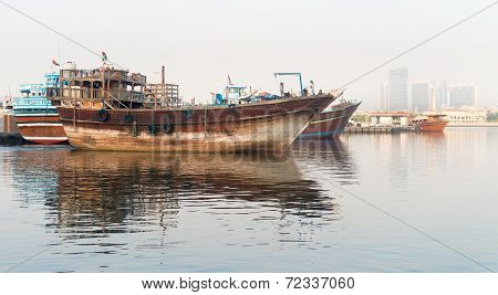 Traditional Arabian Dhows Wooden Boat