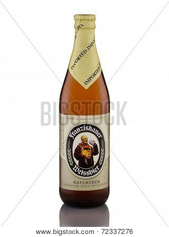 One Bottle Of Wheat Beer Franziskaner Weissbier Naturtrub