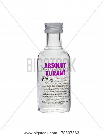Miniature Bottle Of Absolut Kurant Vodka