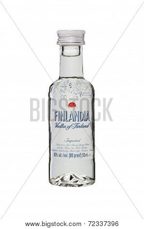 Miniature Bottle Of Finlandia Vodka