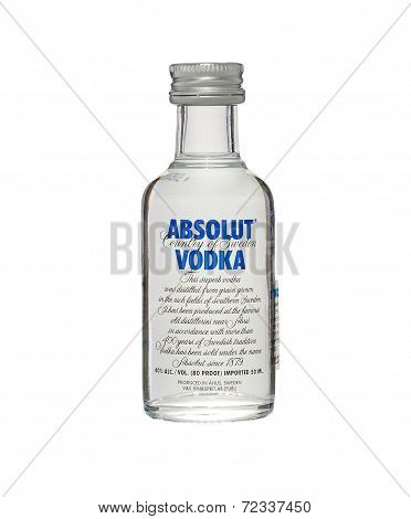 Miniature Bottle Of Absolut Vodka