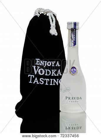 Miniature Bottle Of Pravda Vodka