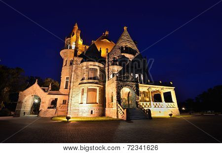 Craigdarroch Castle At Night