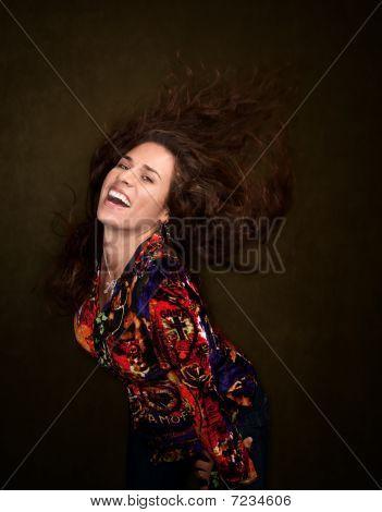 Pretty Woman With Wild Hair