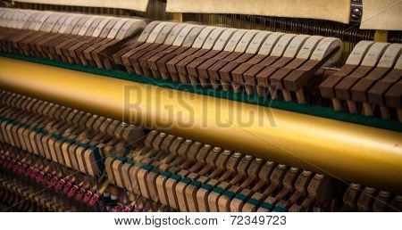 Blurred piano hammers