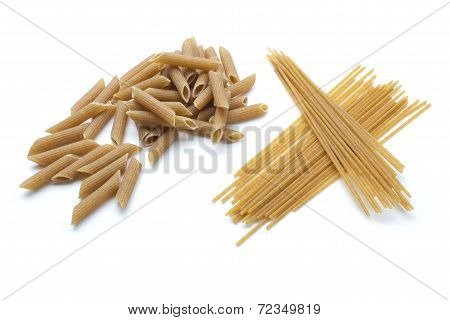 Integral Pasta isolated on white background