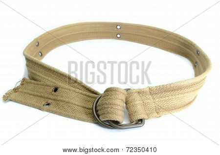 Fabric Strap Belt Isolated On White Background