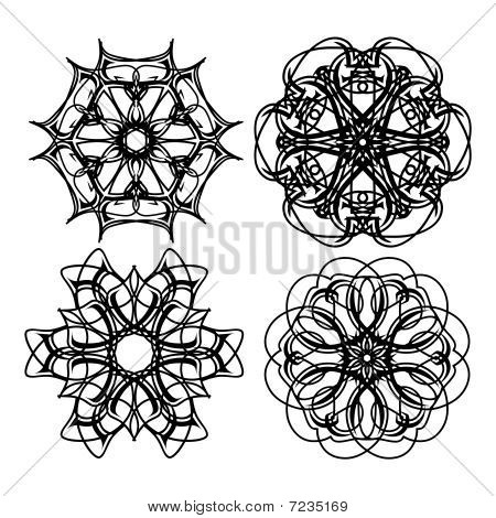 Set of Beautiful Decorative Vector Design Elements